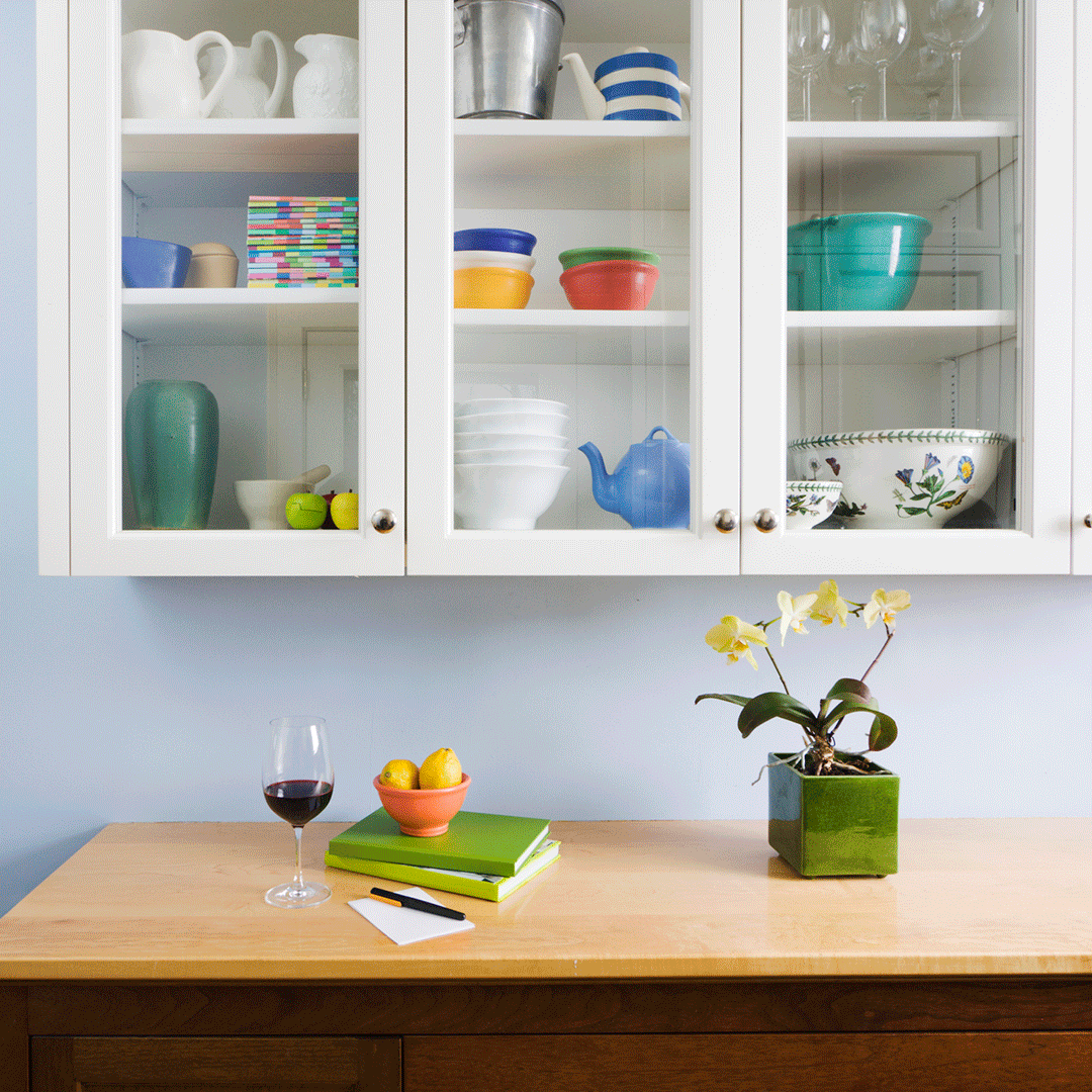 Declutter the Kitchen Cabinets