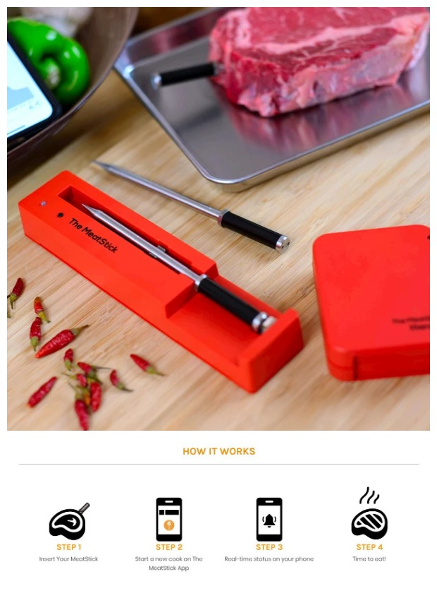 The MeatStick Smart Wireless Meat Thermometer