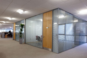 A Glass Wall can Partition off Modern Office Spaces