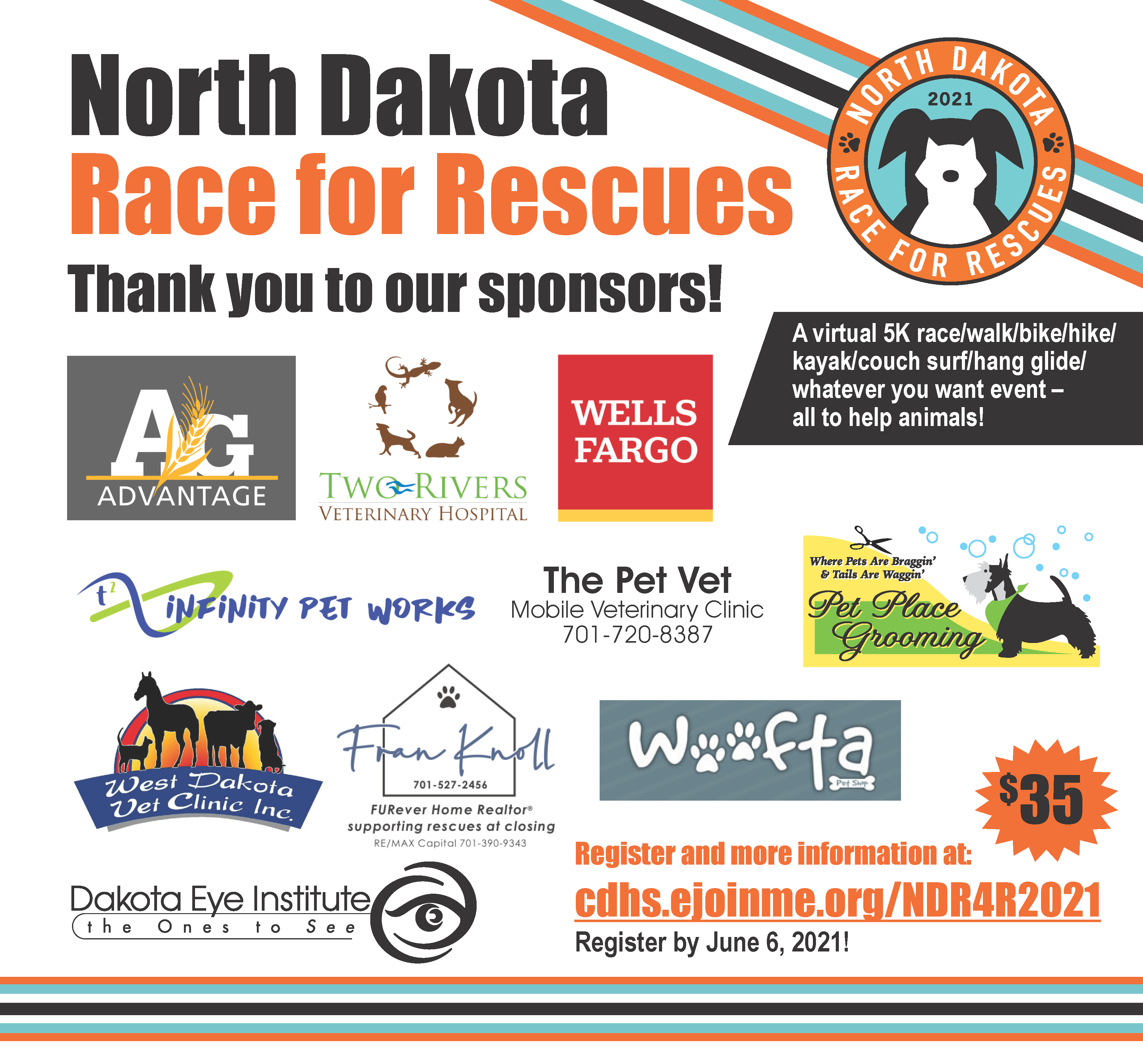 Race For Rescues Sponsors