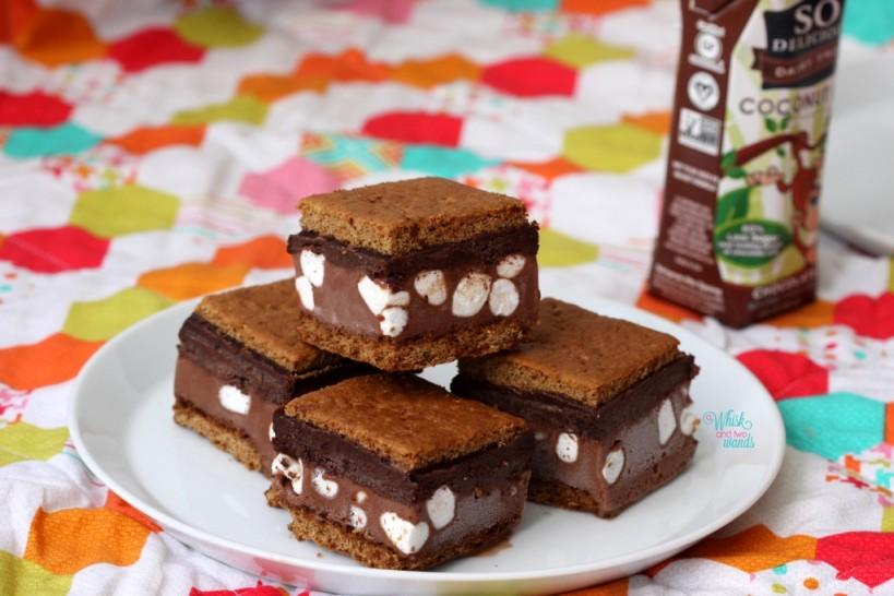 Double Chocolate S'more Ice Cream Bars