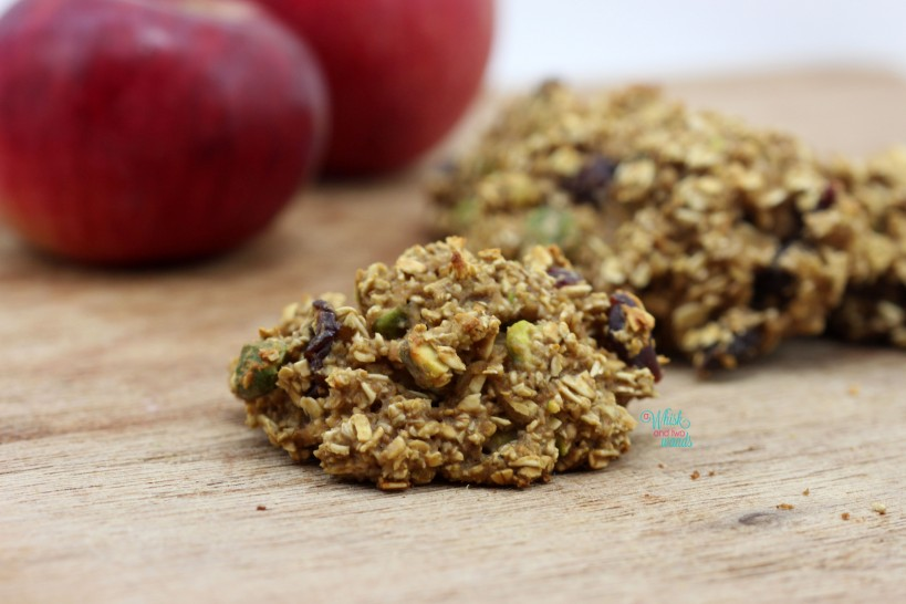 Cranberry Pistachio Apple Oatmeal Cookies