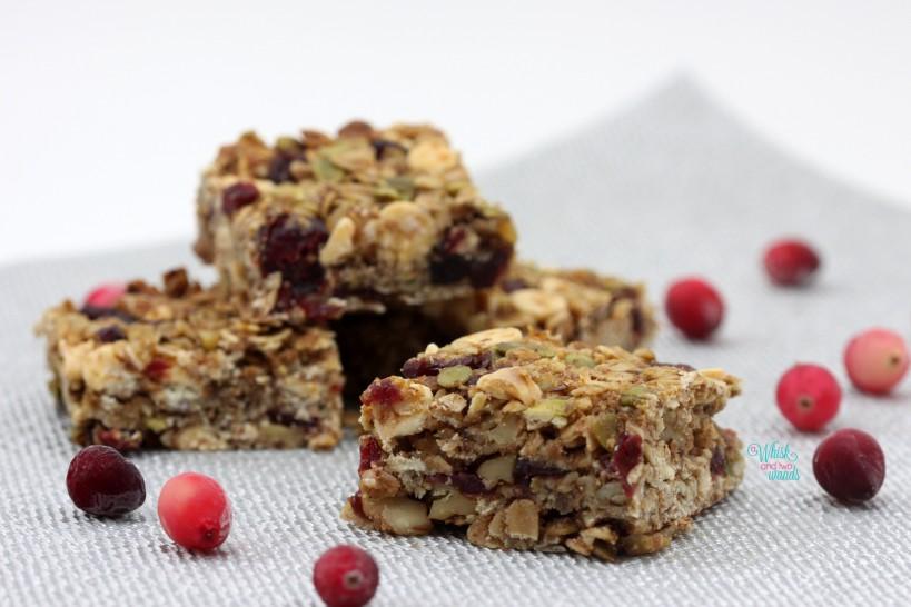Cranberry Bliss Granola Bars, White Chocolate