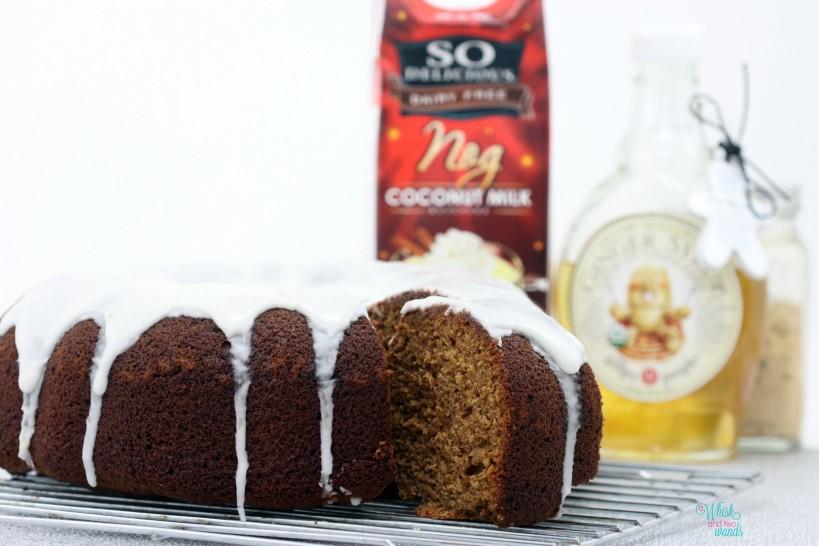 Ginger Bundt Cake with Eggnog Icing
