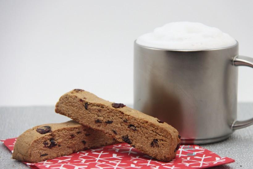 Cranberry Eggnog Biscotti (coconut flour)