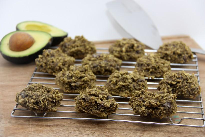 Avocado Chocolate Chip Oatmeal Cookies