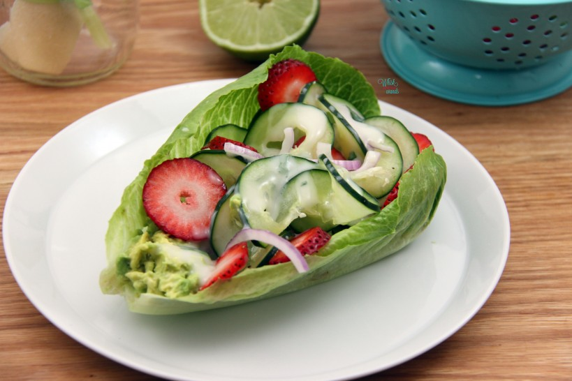 Cucumber Strawberry Wrap
