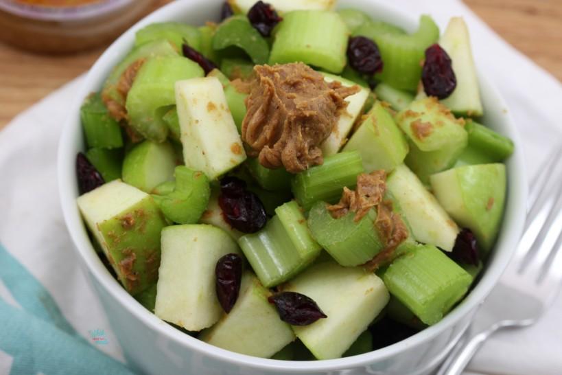 Apple Celery Salad with Pumpkin Peanut Butter