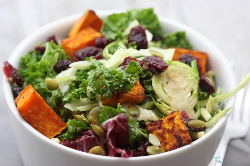 Sweet Potato Kale Superfood Salad