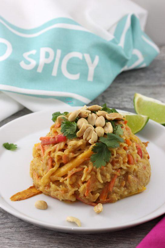 Spaghetti Squash Pad Thai (vegan, gluten free)