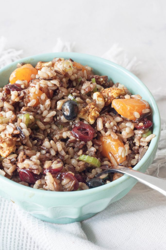 Fruity Forage Wild Rice Salad, A Whisk and Two Wands