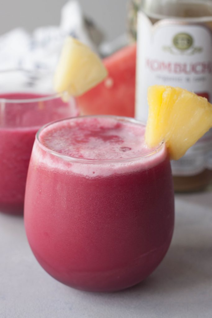 A Whisk and Two Wands, Fruits and Roots Smoothie with kombucha