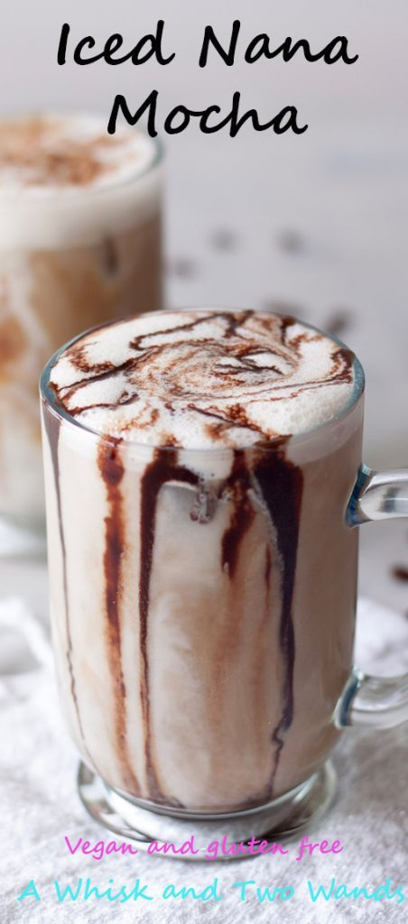 Iced Nana Mocha, A Whisk and Two Wands