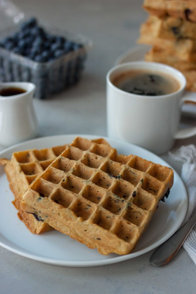 Blueberry Wild Rice Waffles