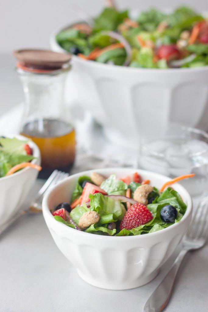 Spring Berry Romaine Salad