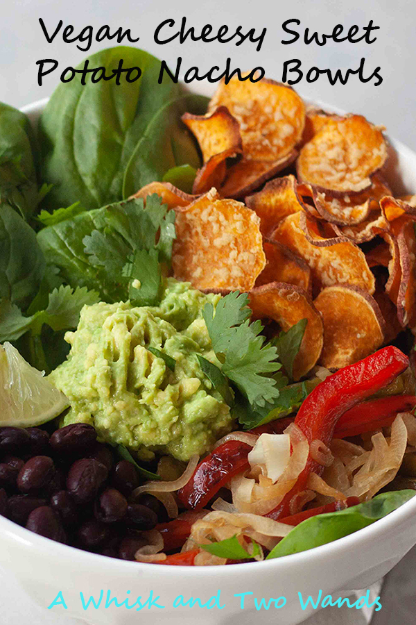 Vegan Cheesy Sweet Potato Nacho Bowls are flavor and nutrition packed bowls to satisfy your Mexican cravings any night of the week. Vegan and gluten free.