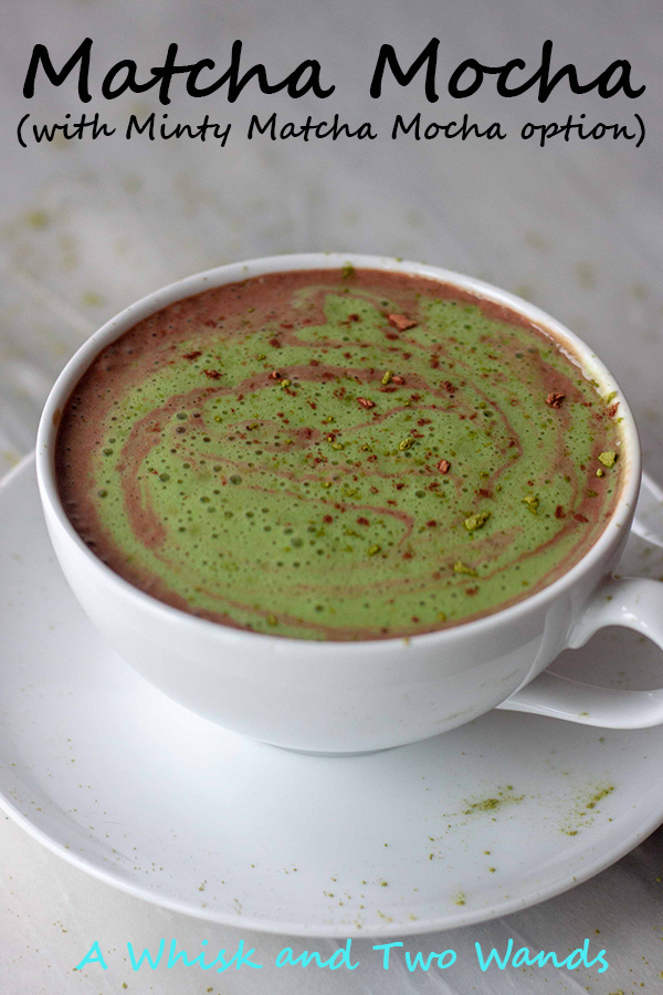 A slightly sweet blend of hot cocoa swirled with a matcha latte. While I call it a mocha there is actually no coffee and the caffeine comes from the matcha. Packed with simple good for you superfoods including energizing matcha for a gentle pick me up. Add a little peppermint oil or extract for a Minty Matcha Mocha, it's a real treat!