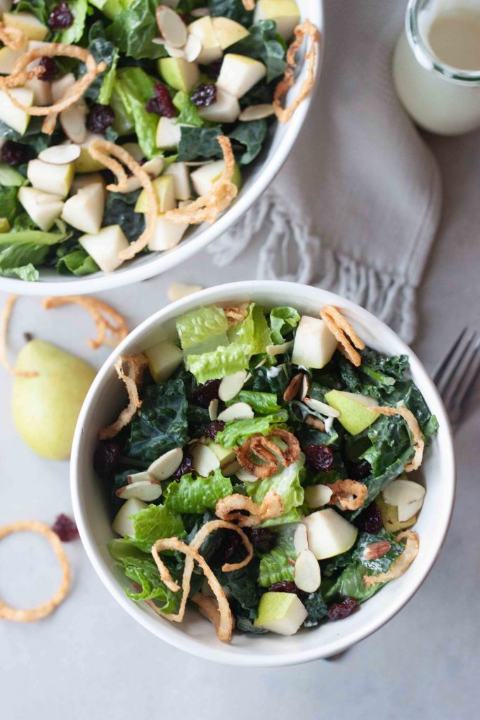 Bowl of Winter Pear and Cherry Salad