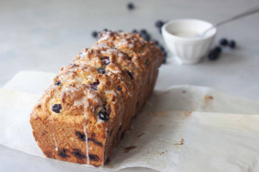 Blueberry Almond Scone Loaf