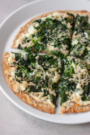 Spinach Garlic Flatzza Pizza