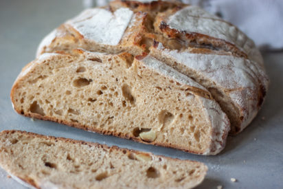 Slices of Social Distancing Spelt Sourdough