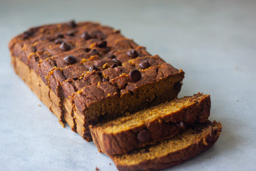 Salted Caramel Chocolate Chip Pumpkin Bread