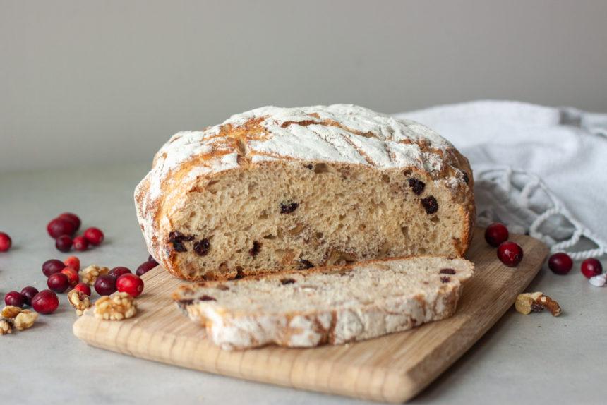 Cranberry Walnut Spelt Sourdough Bread