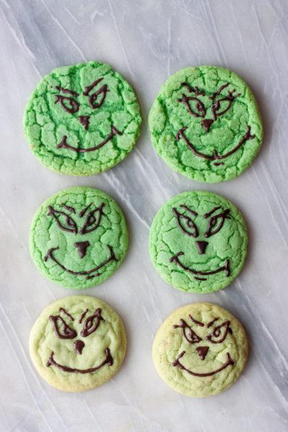 Grinch Crinkle Cookie comparison