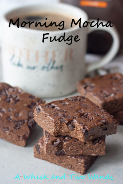 Make mornings better with Morning Mocha Fudge! A healthy vegan and gluten free friendly fudge made with 4-5 simple ingredients. Despite the name it also makes a delicious afternoon snack too.