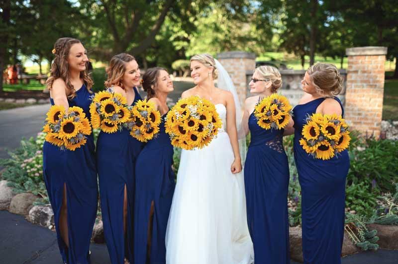 SunflowerBridalGirls
