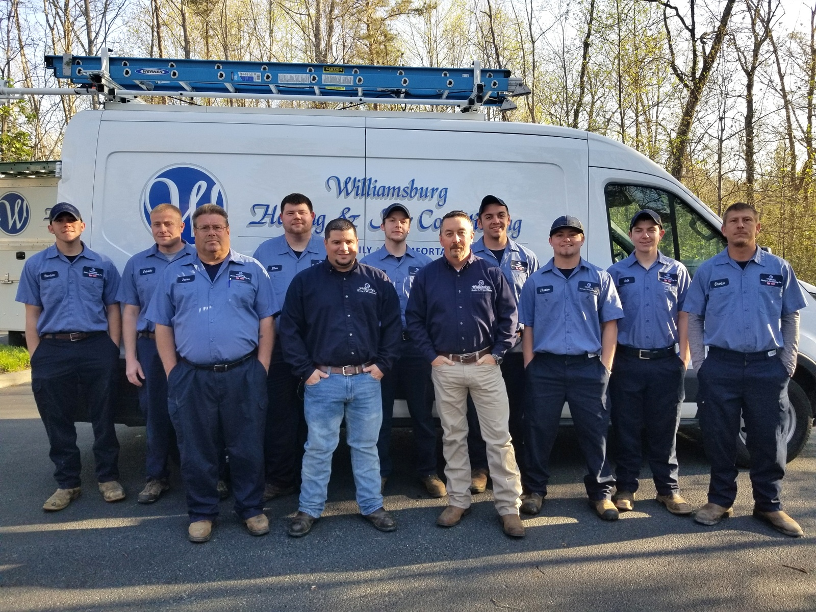 The coverage area for Heating & Air Conditioning, Inc. is the Williamsburg area of Virginia