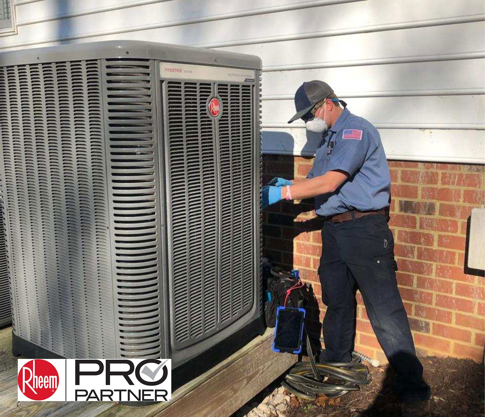 Williamsburg Heating & Air Conditioning fights COVIN-19 by Using Proper Equipment on Service Calls