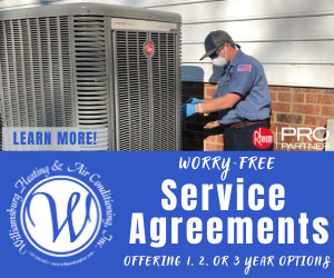 Service Agreements provided by Williamsburg Heating and Air Conditioning, Inc.