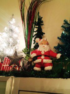 Christmas display Santa tree star