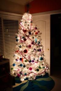White disco Christmas tree