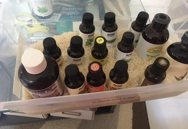 essential oil storage box rice
