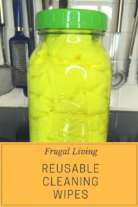 Making your own reusable cleaning wipes is a great way to cut costs and reduce the amount of waste your generate.  And it takes just about zero time!