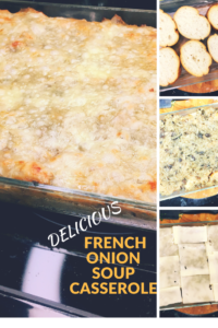 Looking for a great, warming side dish this fall or winter?  Try this French onion soup casserole!  All the flavors you love from French onion soup!