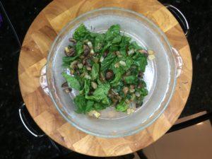 crustless quiche spinach mushroom onion cheddar
