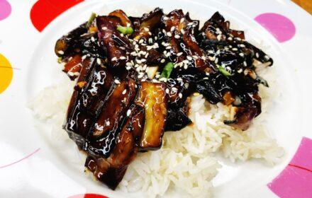 sesame garlic eggplant