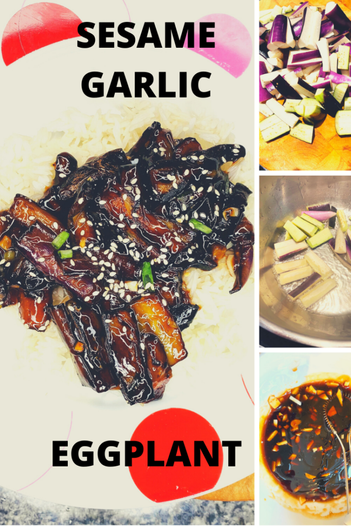 Make this sesame garlic eggplant for take-out flavor at home!