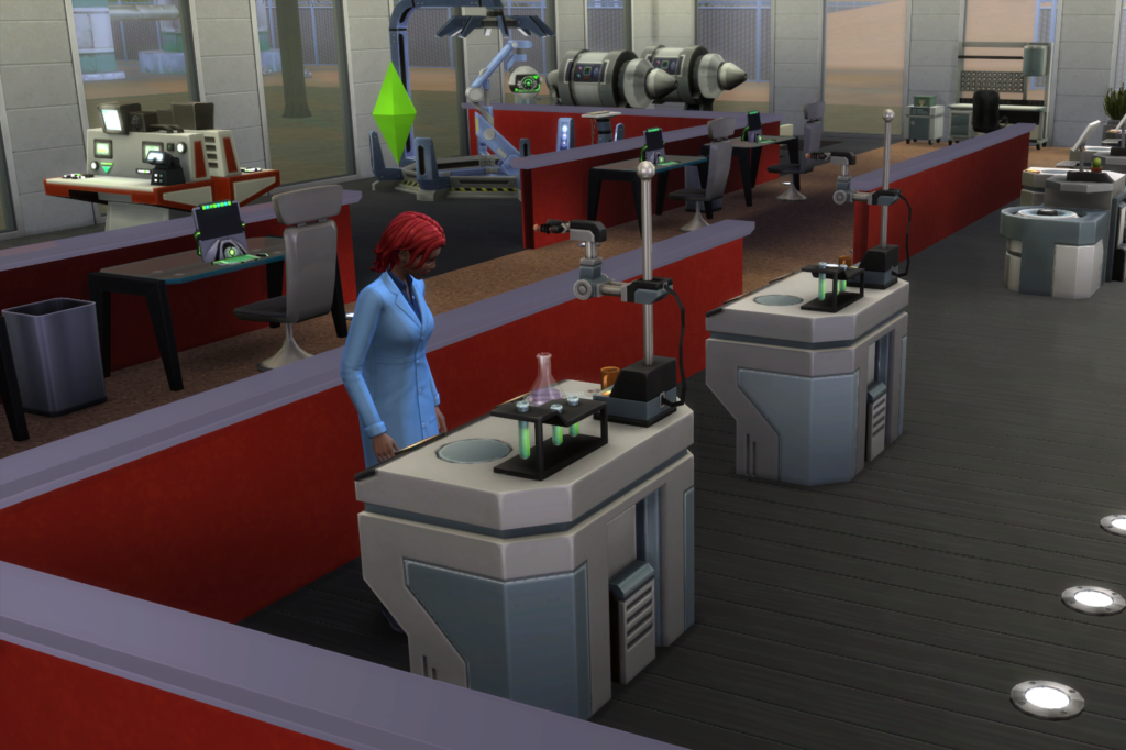 At work in the science career where I've completely redesigned the lot.
