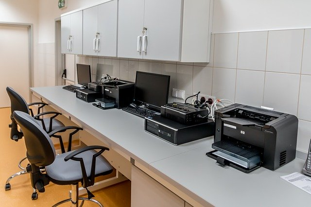 shipping office equipment