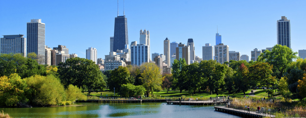 Lincoln Park Pond In Chicago
