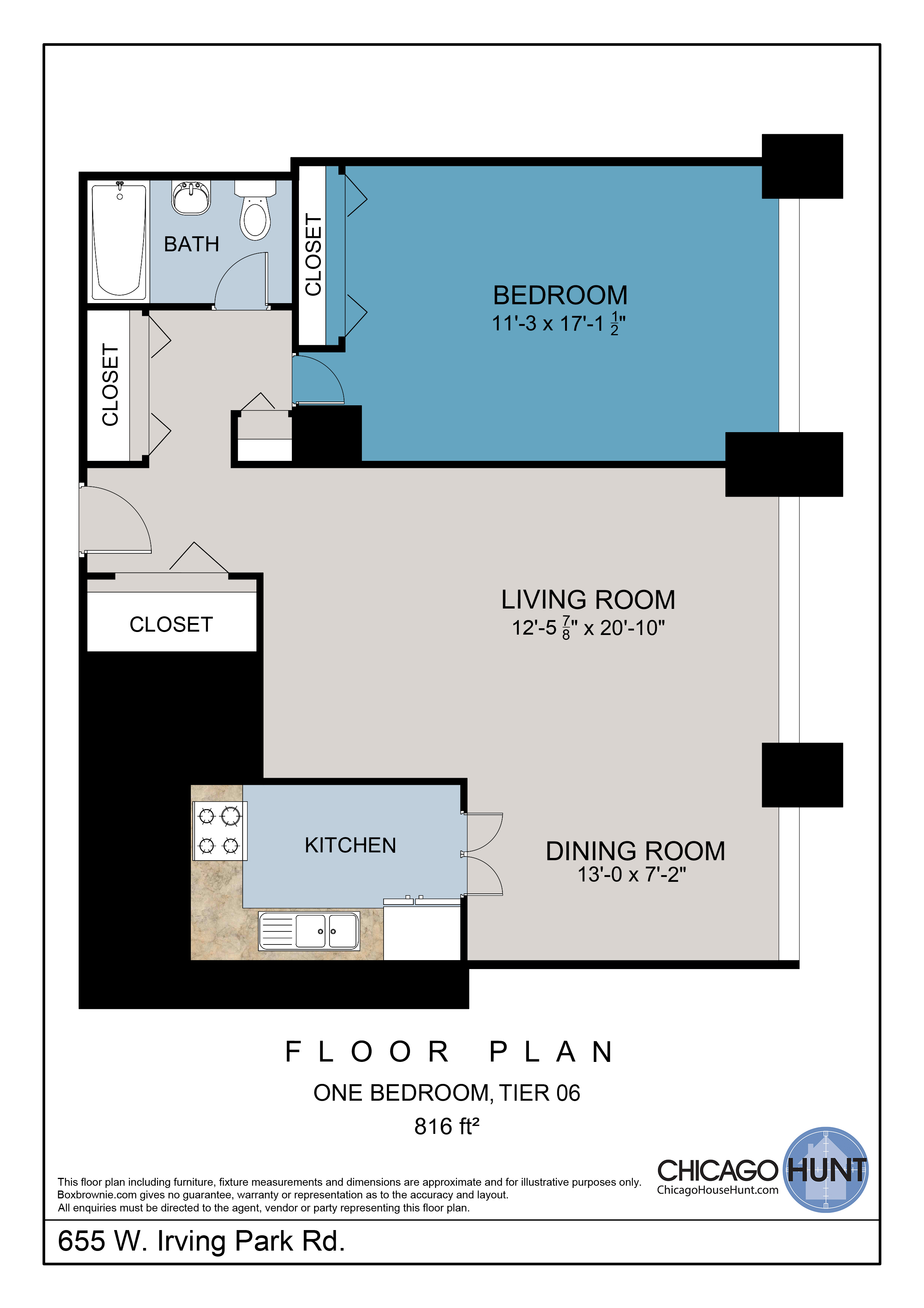 655 Irving Park, Park Place Towere - Floor Plan - Tier 06