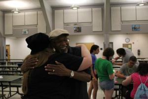 A Volunteer Shares a Hug with Her Resident after the Closing Program (Photo Courtesy of Victoria Knizewski)