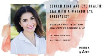 Facebook Live NJ Mom is here - Dr. Neda Gioia - Intergrative VIsion
