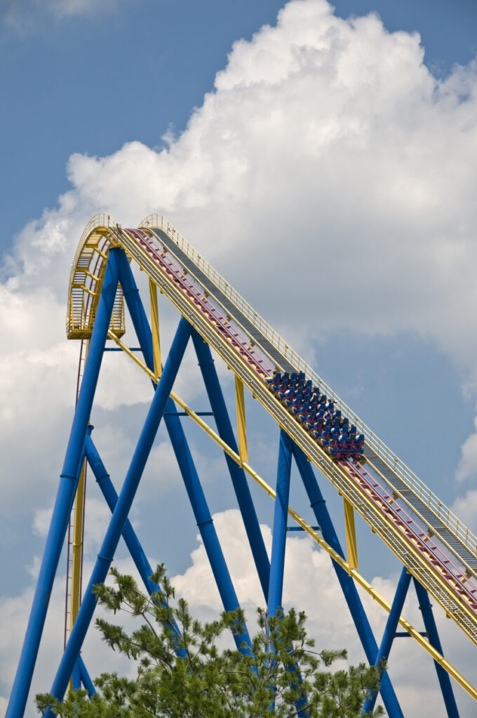 The Batman Ride at Six Flags Great Adventure