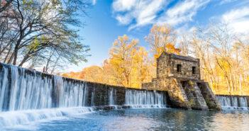 waterfalls in nj, Speedwell dam waterfall,