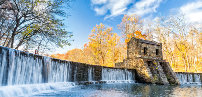waterfalls in nj, Speedwell dam waterfall,